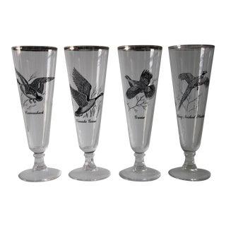 Game Bird Pilsner Glasses - Set of 4
