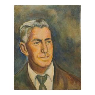 Stranger Art Original Portrait of a Handsome Man