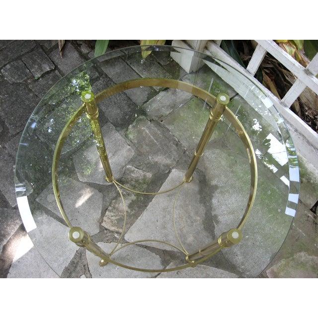 Vintage Brass LaBarge Table - Image 5 of 8