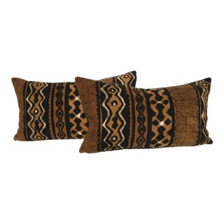 A Pair of African Velvet Mud Cloth Pillows