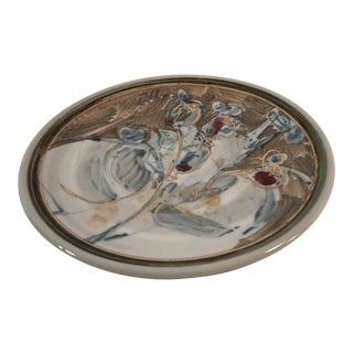 Abstract Glazed Studio Pottery Plate