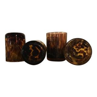 Vintage Tortoiseshell Rocks Glasses - Set of 4