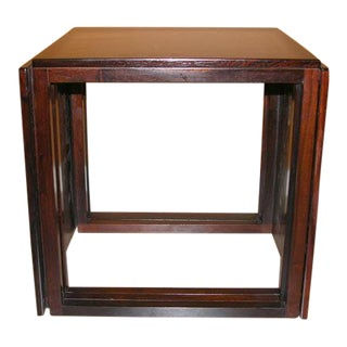 Danish Rosewood Cube of Nesting Tables - Set of 3