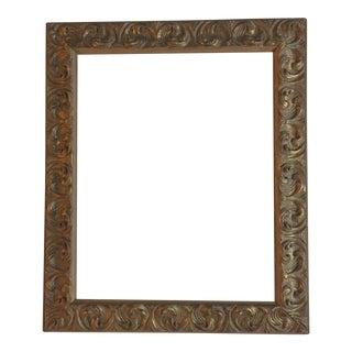 Mid-Century Carved Wood Frame