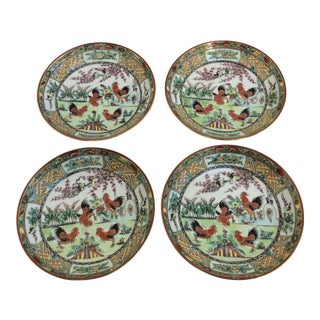 Chinese Rooster Dishes - Set of 4