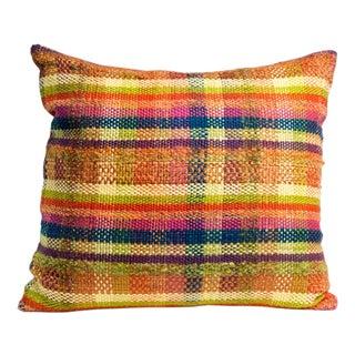 Hand-Woven Plaid Pillow