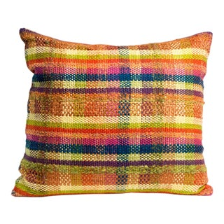 Hand-Woven Plaid Pillow