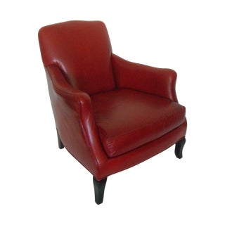 'Charleston' Red Leather Club Arm Chair