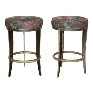 Contemporary Metal Bar Stools - A Pair