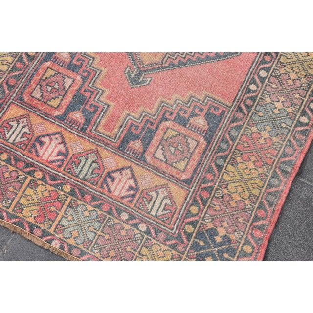 "Vintage Turkish Handmade Anatolian Wool Carpet - 3'6"" X 5'6"" - Image 5 of 7"