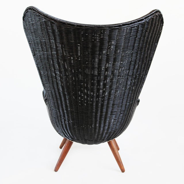 Ebony Wicker Egg Chair - Image 4 of 4