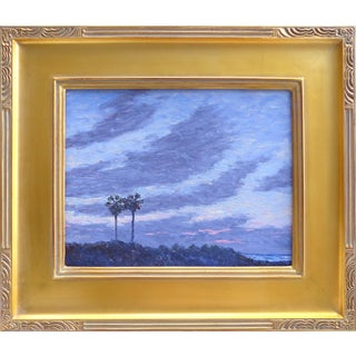 Oceanside Dusk Oil Painting by David Eugene Henry
