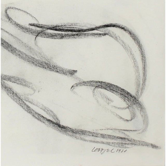 Loose Reclining Nude Charcoal Drawing - Image 2 of 2