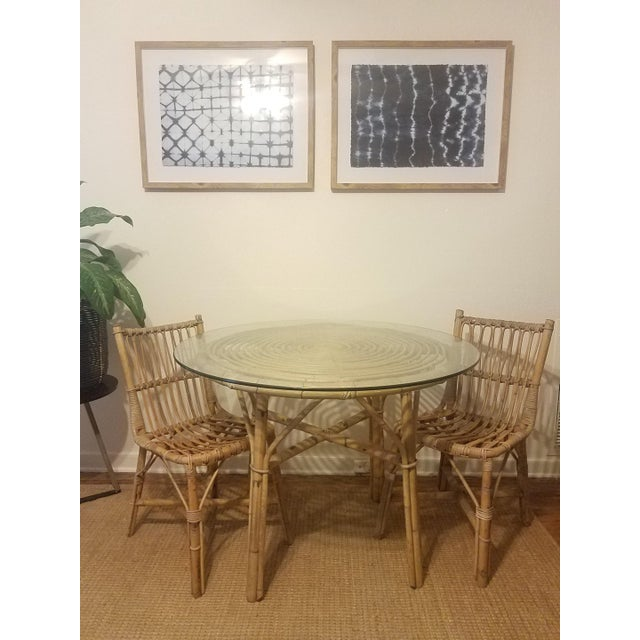 Vintage Franco Albini Rattan Table & Chairs - Image 10 of 11