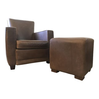 American Leather Ethan Chair & Ottoman