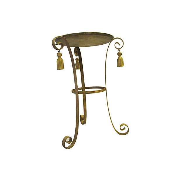 Metal Gold Tassel Table - Image 2 of 4