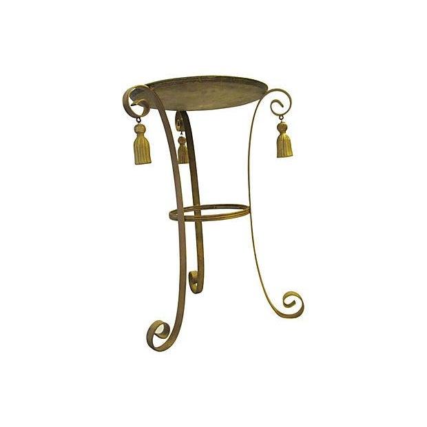 Image of Metal Gold Tassel Table