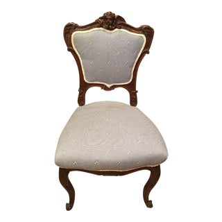 Antique 19th C French Louis XV Petite Boudoir Chair
