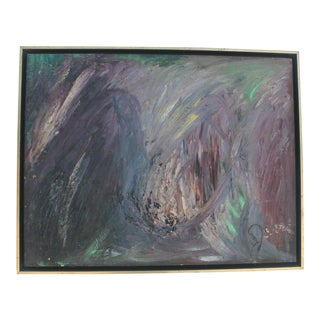 Vintage Abstract Expressionist Painting