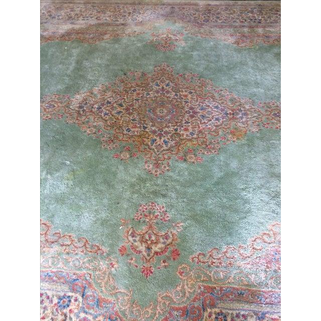 Traditional Iranian Handmade Wool Rug - 14′ × 10′ - Image 8 of 11