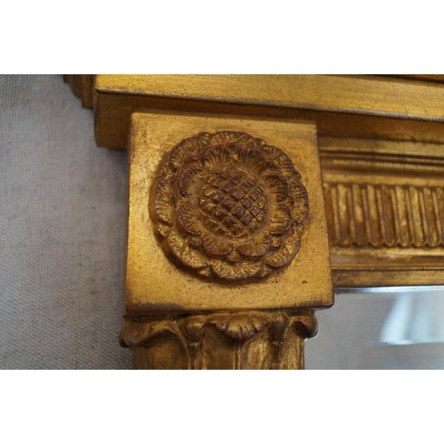 LaBarge Ebonized and Gilded Classical Style Mirror - Image 6 of 10