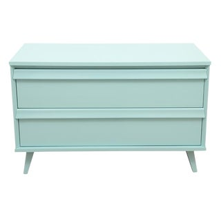 Midcentury Style Light Teal Side Table