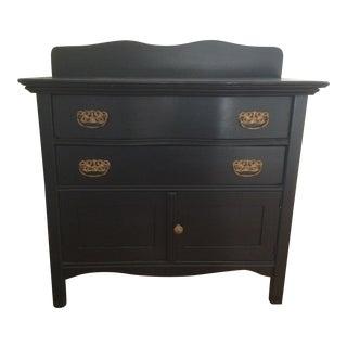 Vintage Black & Gold Washstand