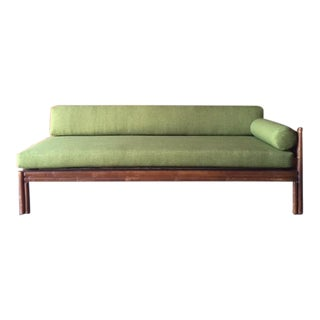 Vintage Faux Bamboo Newly Reupholstered Daybed Sofa