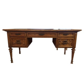 Drexel Velero Leather Top Desk