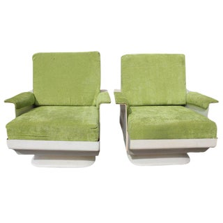 Circa 1970s Mid-Century Fiberglass Armchairs - A Pair
