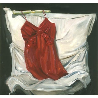 "Paula McCarty ""Red Lingerie"" Oil Painting"