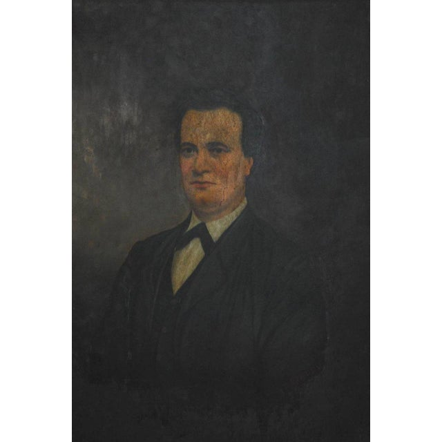 19th Century English Portrait of a Gentleman Oil on Canvas - Image 3 of 10