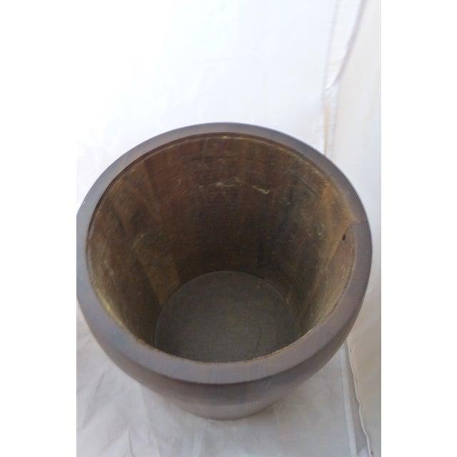 Mid Century Modern Large Walnut Ice Bucket - Image 5 of 7