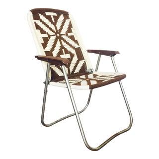 Vintage Macrame Folding Chair