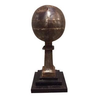 19th-C. French Tin Globe Finial