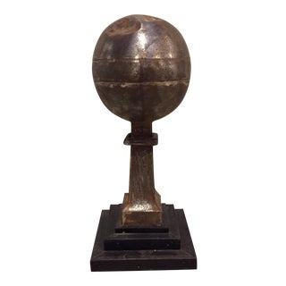 19th-C. French Tin Globe Finial