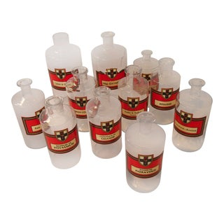 French Apothecary Jars - Set of 11