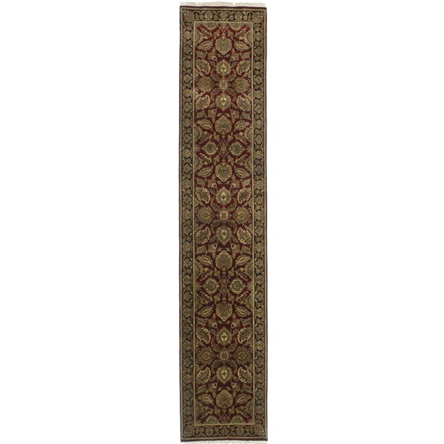 "RugsinDallas Persian Style Wool Runner - 2'6"" X 12'5"" - Image 1 of 2"