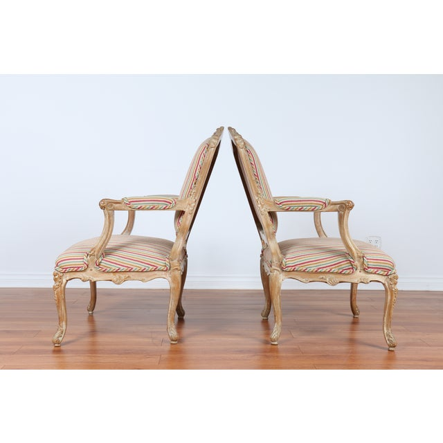 Antique 1920s French Style Armchairs - A Pair - Image 2 of 9