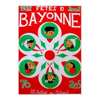 2002 Fetes De Bayonne French Festival Poster