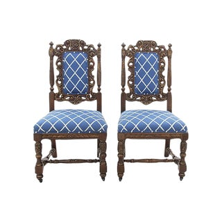 English Jacobean Chairs- A Pair