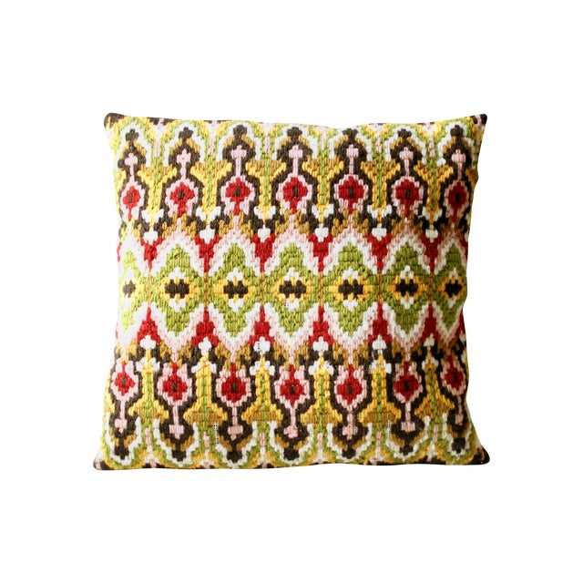 Image of Vintage Needlepoint Pillow
