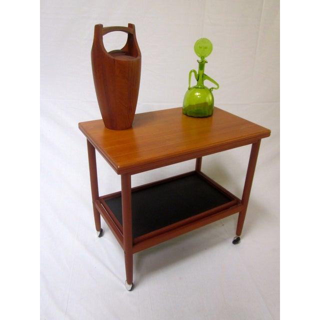 danish modern mid century bar cart table chairish. Black Bedroom Furniture Sets. Home Design Ideas