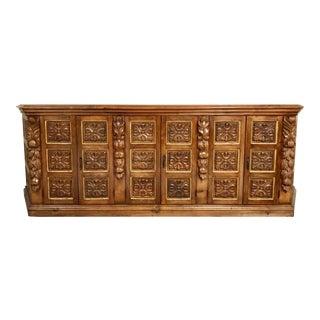 Spanish Hand Carved Credenza Buffet
