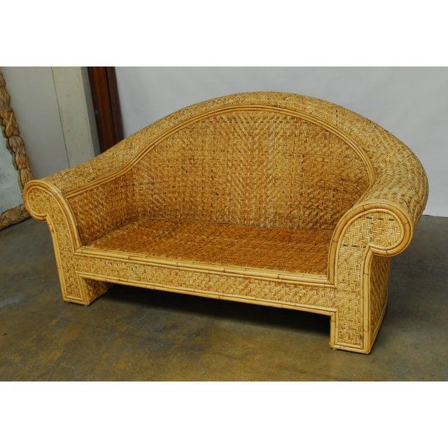Ralph Lauren 1980 Bamboo Settee - Image 2 of 6