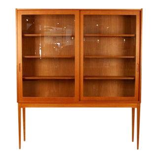 Vintage Danish Oak & Glass Cabinet