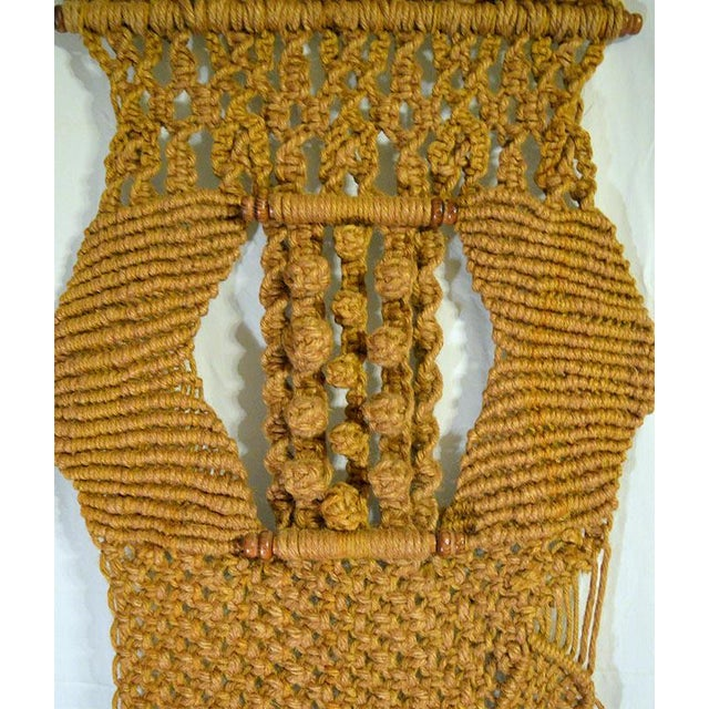 Image of Gold Boho Chic Macrame Wall Hanging
