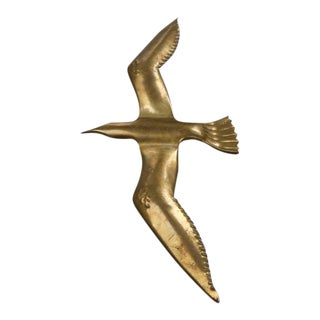 Large Brass Seagull Wall Light or Sculpture