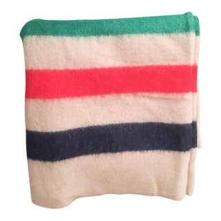 Vintage 3 Point Wool Camp Blanket, Lodge Decor