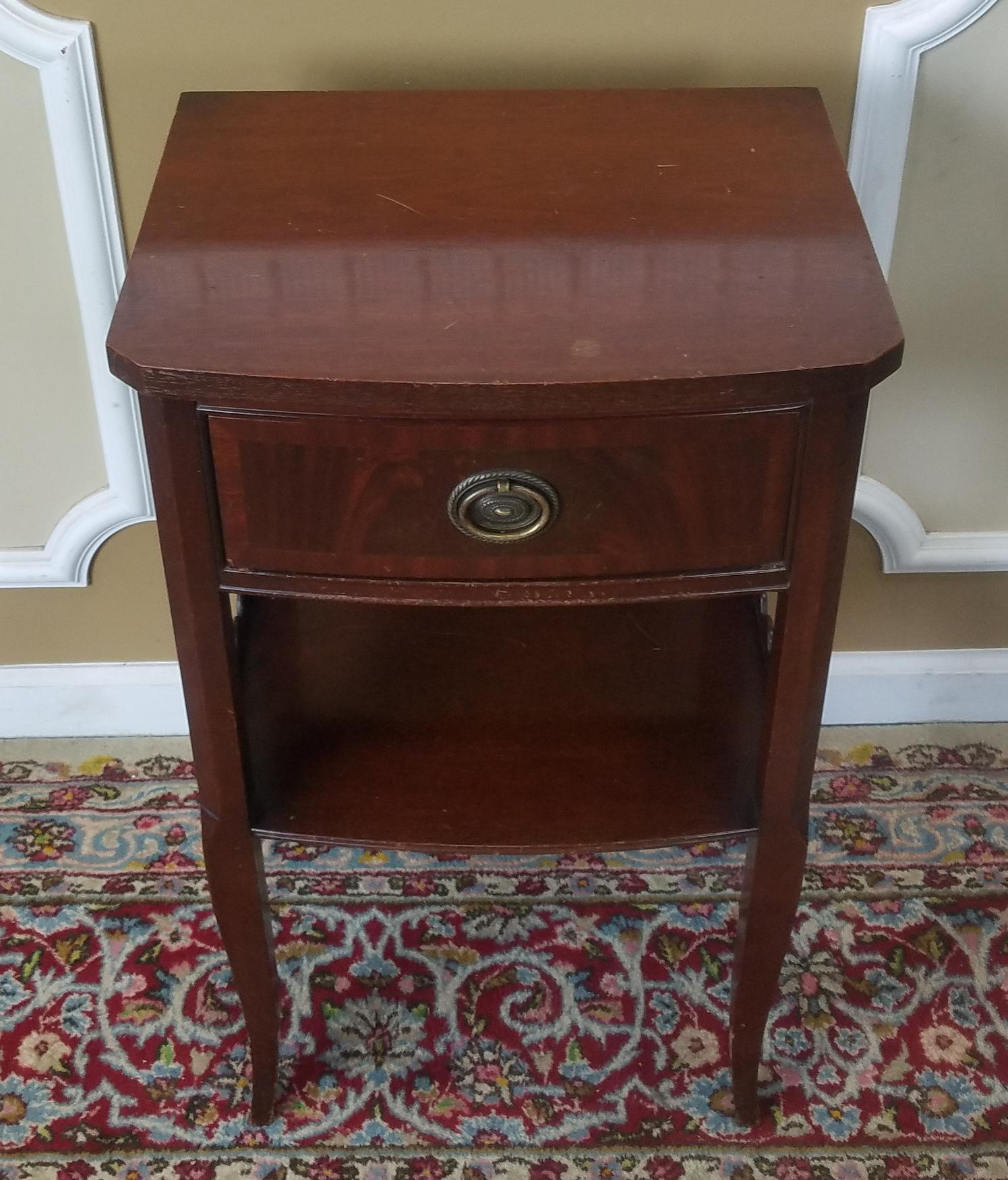 Rway Northern Furniture Co Mahogany Sheraton Style Bedroom Nightstand    Image 5 Of 8